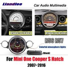Liandlee Android para Mini Cooper S escotilla R56 R57 estéreo de coche pantalla Video Wifi BT Carplay mapa GPS Navi navegación Multimedia