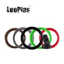Leopolas 1.75mm 10 e 20 medidores asa amostra de filamento para fdm 3d impressora caneta consumíveis materiais de impressão material plástico