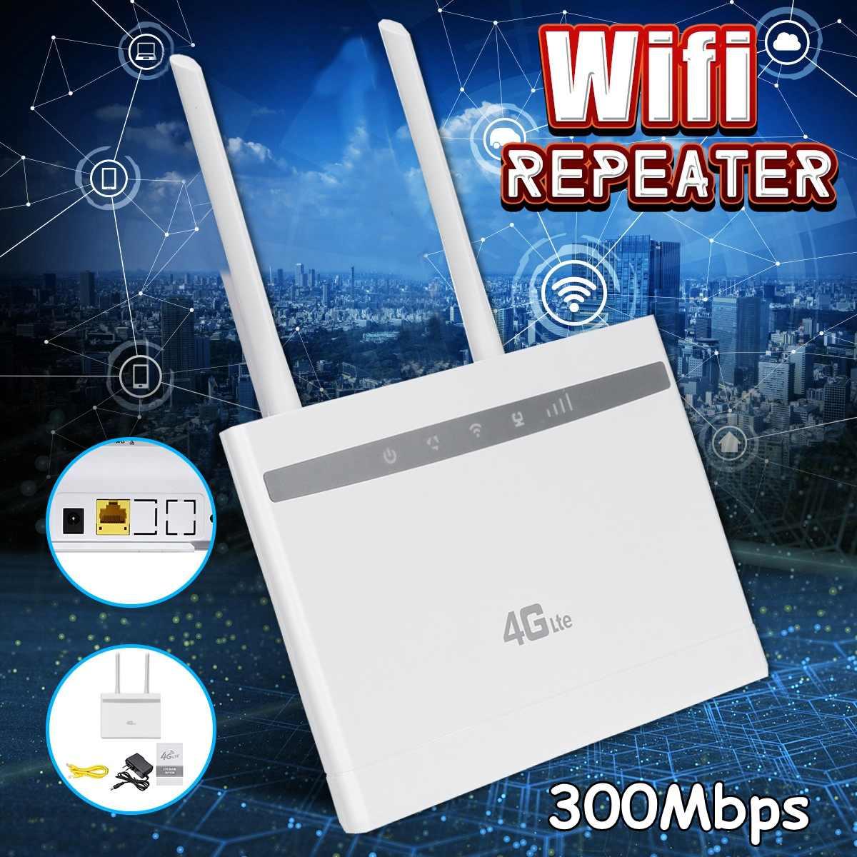 Routeur WIFI sans fil LEORY 3G/4G 300Mbps 4G LTE Modem routeur WIFI CPE avec emplacement pour carte Sim PK B310, B315, B593, B525, E5186