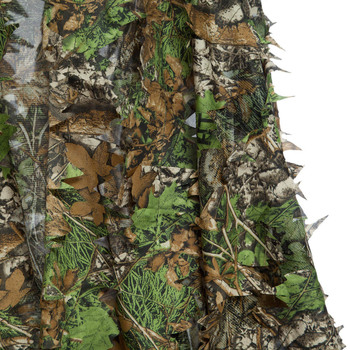 3D Hunting Clothes Camouflage Ghillie Suit Jungle Cloak Poncho Bionic Leaves Dress Hooded Ghillie Suits for Sniper Photograph 5