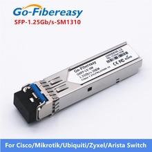 SFP Optical Transceiver โมดูล 1000Base LX SMF 1.25Gbs 1310nm 20km LC SFP Optical Transceiver ไฟเบอร์ออปติกอุปกรณ์ SFP โมดูล