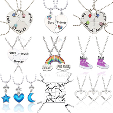 Best Friend Pendant Necklace For Women Mixed Style Puzzle Lo