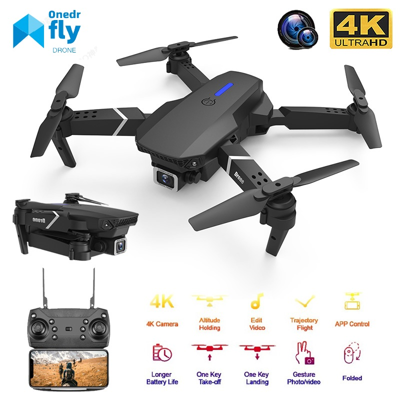 2020 New Quadcopter E525 WIFI FPV Drone With Wide Angle HD 4K 1080P Camera Height Hold Foldable Quadcopter Drone NiceGift Toy