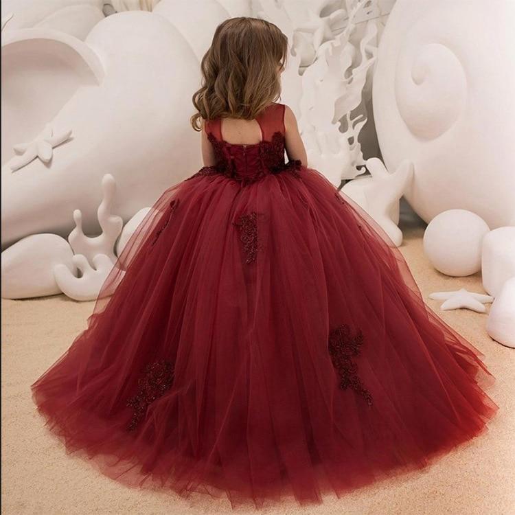 New Style CHILDREN'S Dress Lace Flower Boys/Flower Girls CHILDREN'S Piano Host Performance Birthday Long Princess Tutu