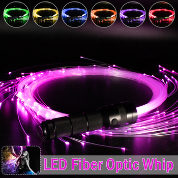 LED Fiber Optic Whip 360 Degree More Modes and Effects Light Up Waving Holiday Parties Lighting Fiber Optic Dance Whips 2mm solid core side glow fiber optic light cable side emitting optic fiber lighting