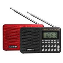 Radio przenośne FM/AM/SW 21 opaski cyfrowy klucz wybór Mini antena teleskopowa kieszenie MP3 TF USB głośnik na zewnątrz