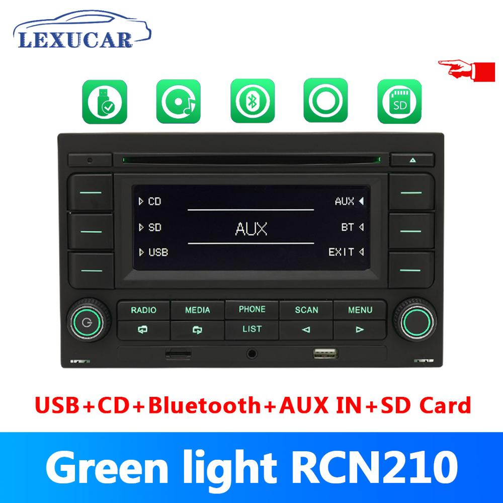 Bluetooth RCN210 <font><b>CD</b></font> <font><b>Player</b></font> Green Light <font><b>Car</b></font> Radio <font><b>USB</b></font> <font><b>MP3</b></font> AUX 31G 035 185 For VW Skoda Polo 9N Golf Jetta MK4 Passat B5 RCN 210 image