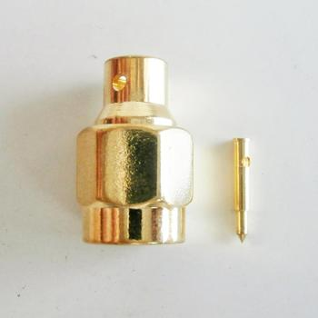 1X Pcs Connector SMA Male plug Solder for semi-rigid RG402 0.141 cable Coax Jack Brass GOLD Plated Straight RF Adapters image
