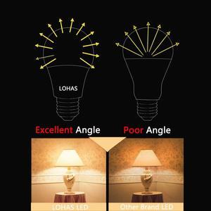 Image 3 - E26 E27 LED אור הנורה A19 9W מנורת 60W שווה ערך 5000K אור יום 2700K חם לבן עבור מקורה דיור עיצוב הבית 6 חבילה