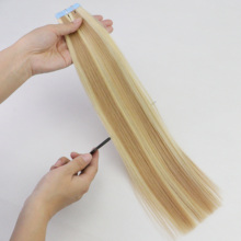 Human-Hair-Tape Extensions Invisible-Tape Piano-Color Isheeny Skin Weft Hair-20pcs Real-Remy