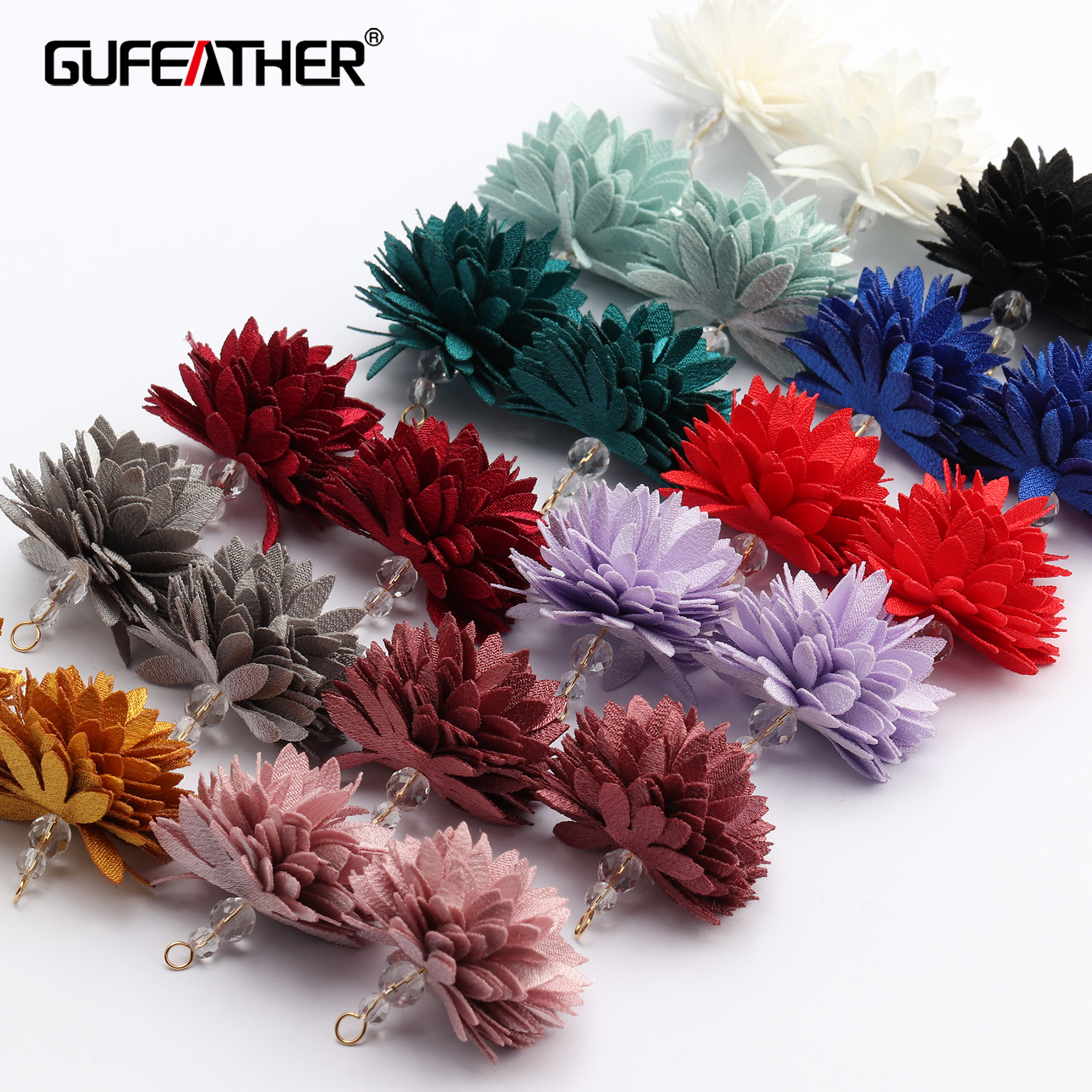GUFEATHER M646,jewelry Accessories,diy Flower Pendant,ball Shape,hand Made,flower Ball,diy Earring,jewelry Making,10pcs/lot