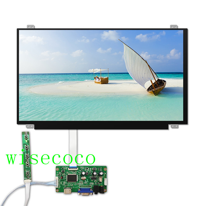 15.6 inch <font><b>IPS</b></font> LCD screen 1920*1080 <font><b>HDMI</b></font> VGA edp 30 pins Driver Board for Raspberry Pi 3 laptop display lcd N156HGA-EAB image