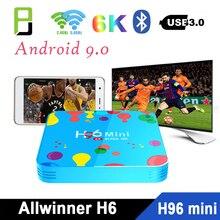 Smart TV boxes h96 mini h6 4GB128GB 6K H.265 wifi 2.4G/5G Android tv set top box support iptv netflix Google voice media player