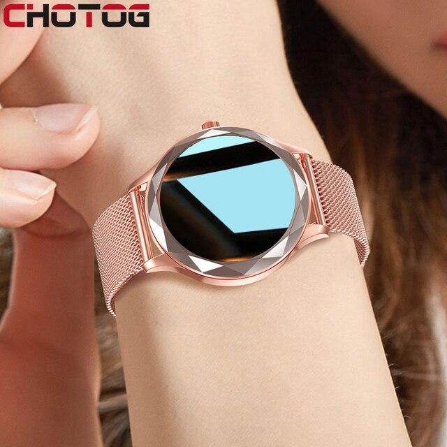 Relógio inteligente feminino adorável pulseira sono freqüência cardíaca monitor de pressão arterial smartwatch senhoras presente relógios masculino para android ios 1