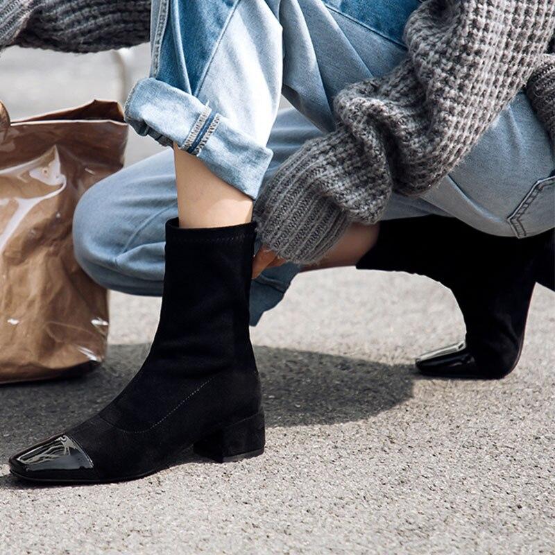 2019 2020 jesień botki kobiety nowy zima Plus rozmiar 42 43