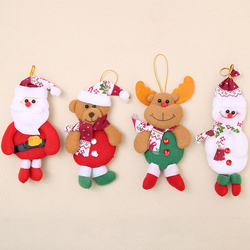 2019 Merry Christmas Ornaments Gift Santa Claus Snowman Tree Toy Doll Hang Decorations For Home Christmas Party New Year Gift 3
