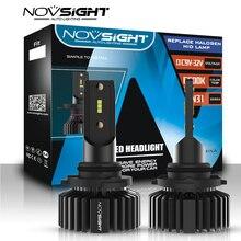 NOVSIGHT lampe automobile, 2 pièces, Mini 9006 hb4 led h7 h4 h1 h8 h11 phare led 12v 9005 hb3 9006 lumière led, 6500K