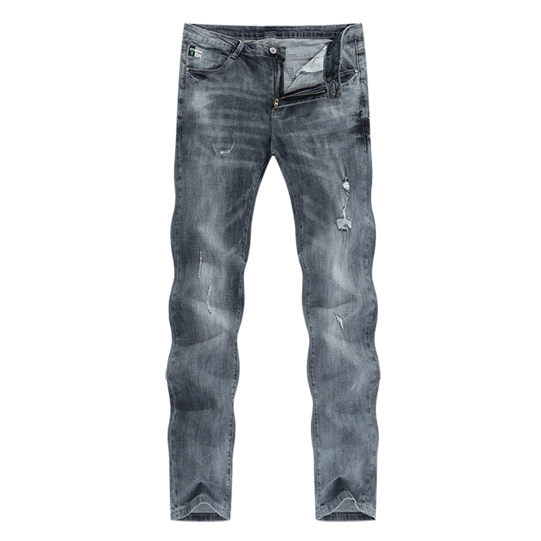 KSTUN jeans men ripped men's slim fit jeans summer stretch retro gray jeans mens denim pants distressed streetwear hip hop jeans 11