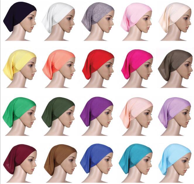 10pcs   Muslim Full Cover Inner Women's Tube Cap Hijab Bonnet Cap Islamic Underscarf Neck Head Bonnet Hat