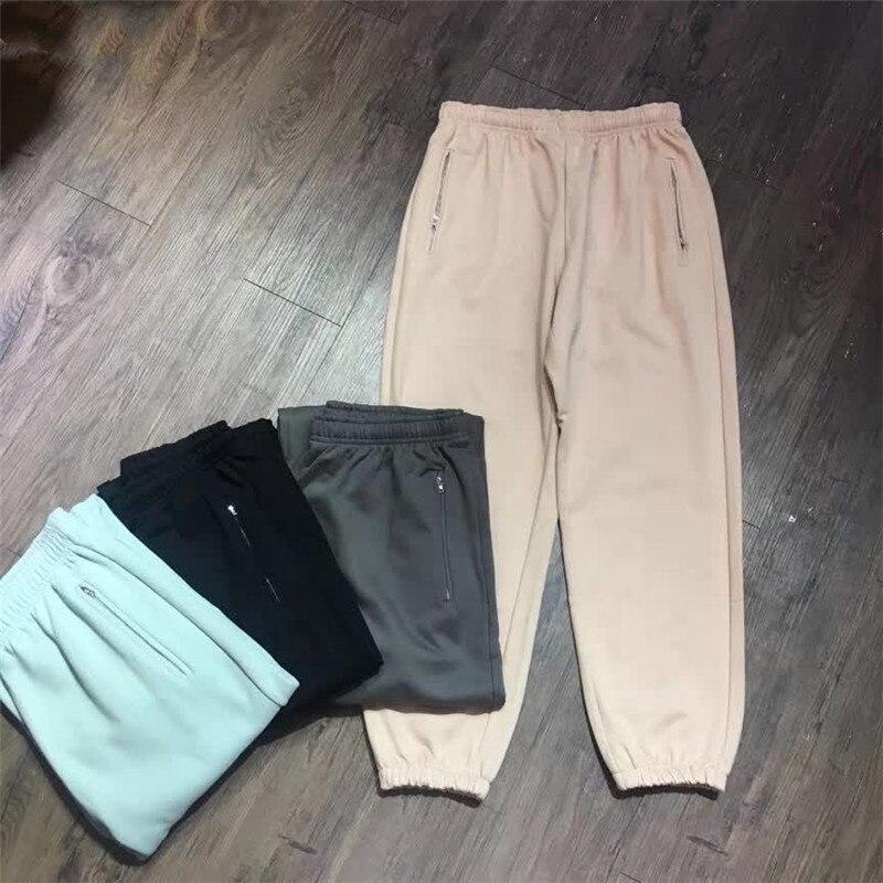 2020 Solid Colors  Pants Season 6 Pants Hip Hop Men Women Kanye West Sweatpants Kardashian Trousers 1:1 High Quality Cotton 5