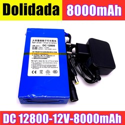 Durable DC 12V 8000 MAH High Capacity Lithium ion rechargeable battery AC Charger (US/EU Plug Hot Sale Promotion free drop