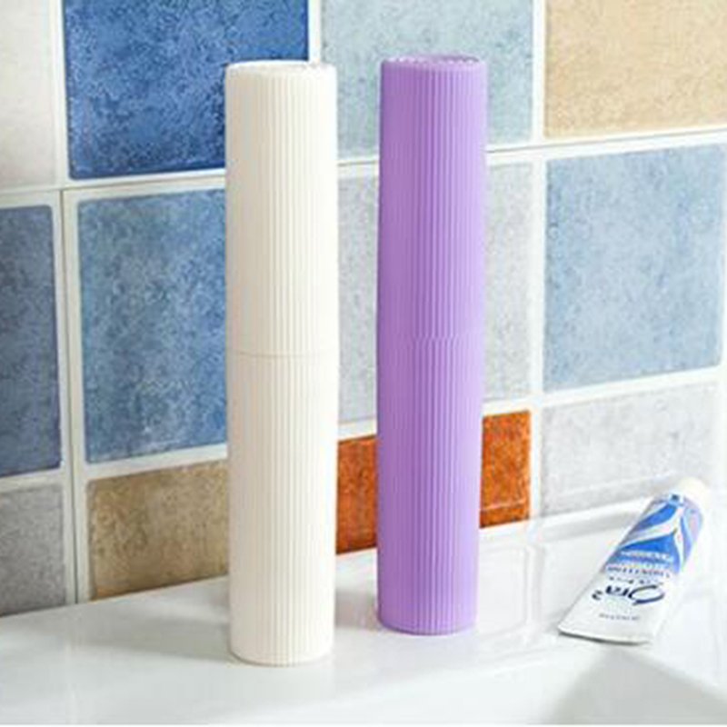 New 1Pc Portable Toothpaste Cases Holder Travel Case Bathroom Organizer Toothbrush Holder Bathroom Products Clean Organizer image
