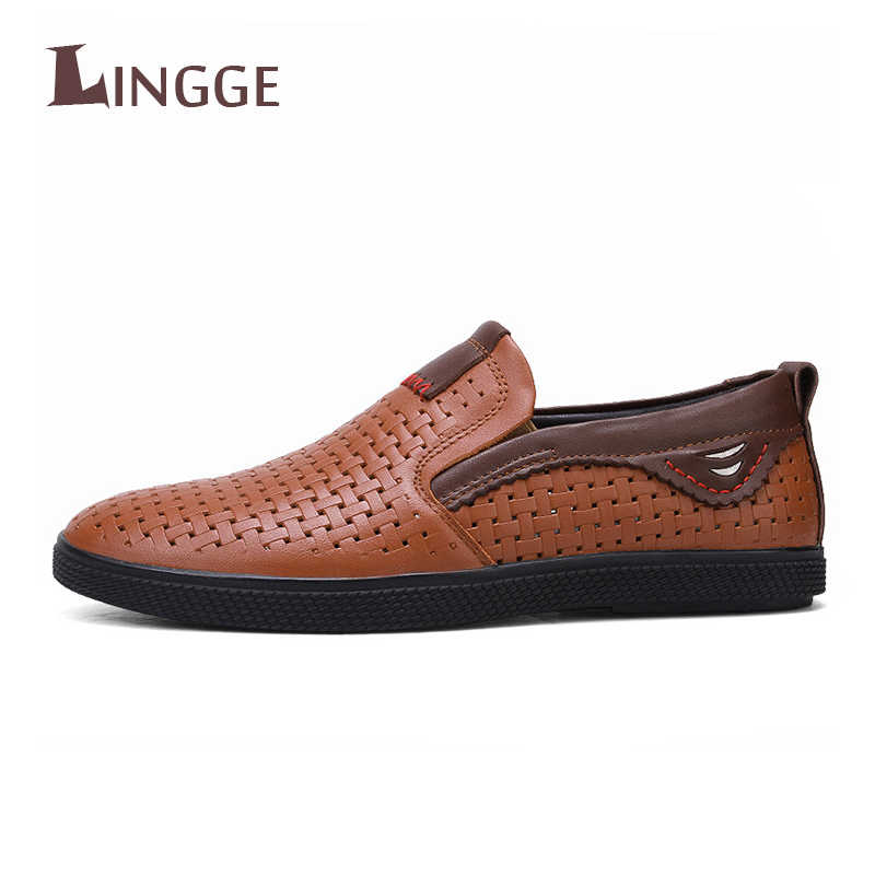 2019 Mens Leather Shoes Sneakers Outdoor Male Man Loafers Brand Men's Shoes Casual Leather Shoes For Men Flats