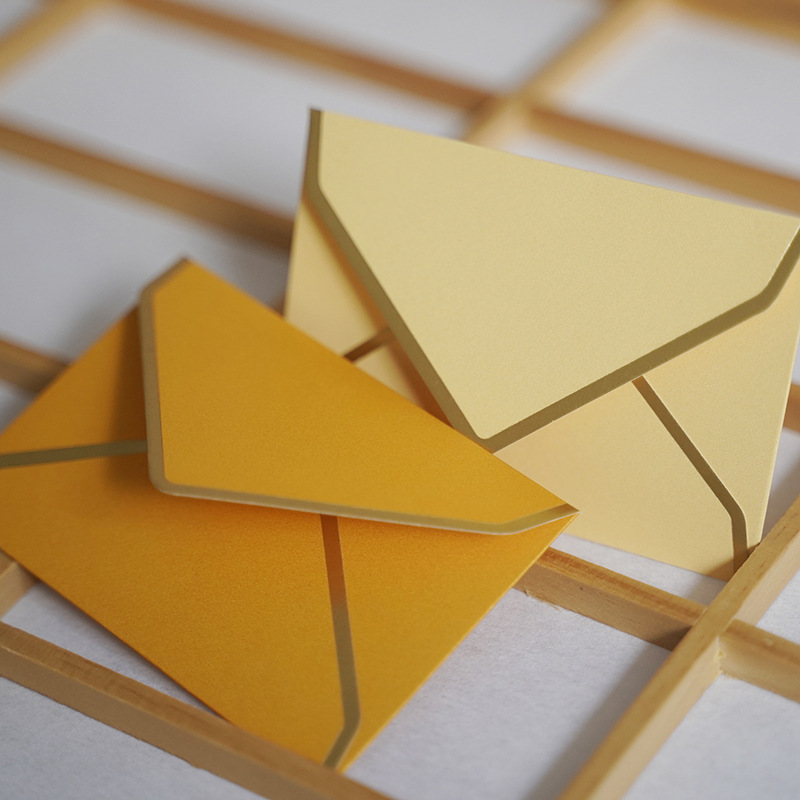 20 Pcs/lot Mini Envelope Gilded Edge Paper Envelopes Cute Envelope For Card Scrapbooking Gift