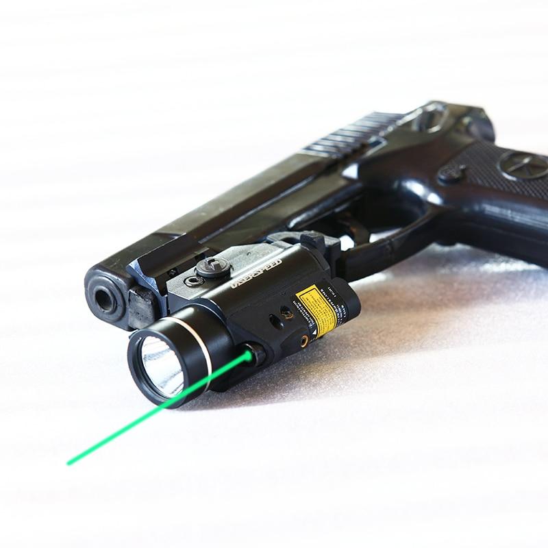 tatico led gun light lanterna 400lm vermelho verde ir laser vista para 20mm ferroviario pistola luz
