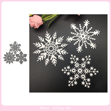3pcs Winter snowflake Metal Cutting Dies for DIY Scrapbooking Photo Album Decorative Embossing Paper Card Crafts Die Cut 2019