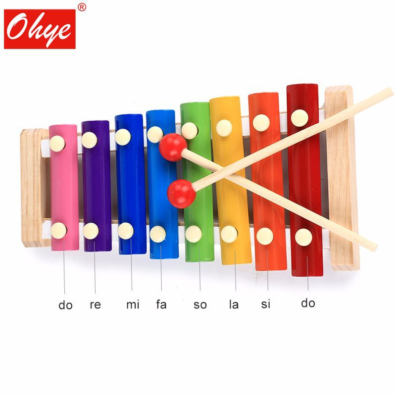 Ohye Wooden Music Box Knock Xylophone Children Early Education ENLIGHTEN Educational Early Childhood Music Launcher Teaching Aid