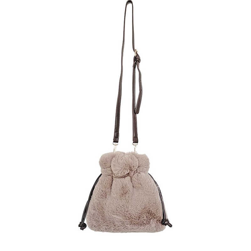 Faux Fur Female Handbag Shoulder
