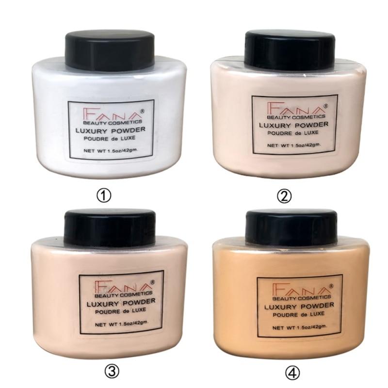 Loose Powder Color Brightens Makeup Oil-Control Brightening Smooths Invisible Pores Waterproof Setting Makeup Banana Powder