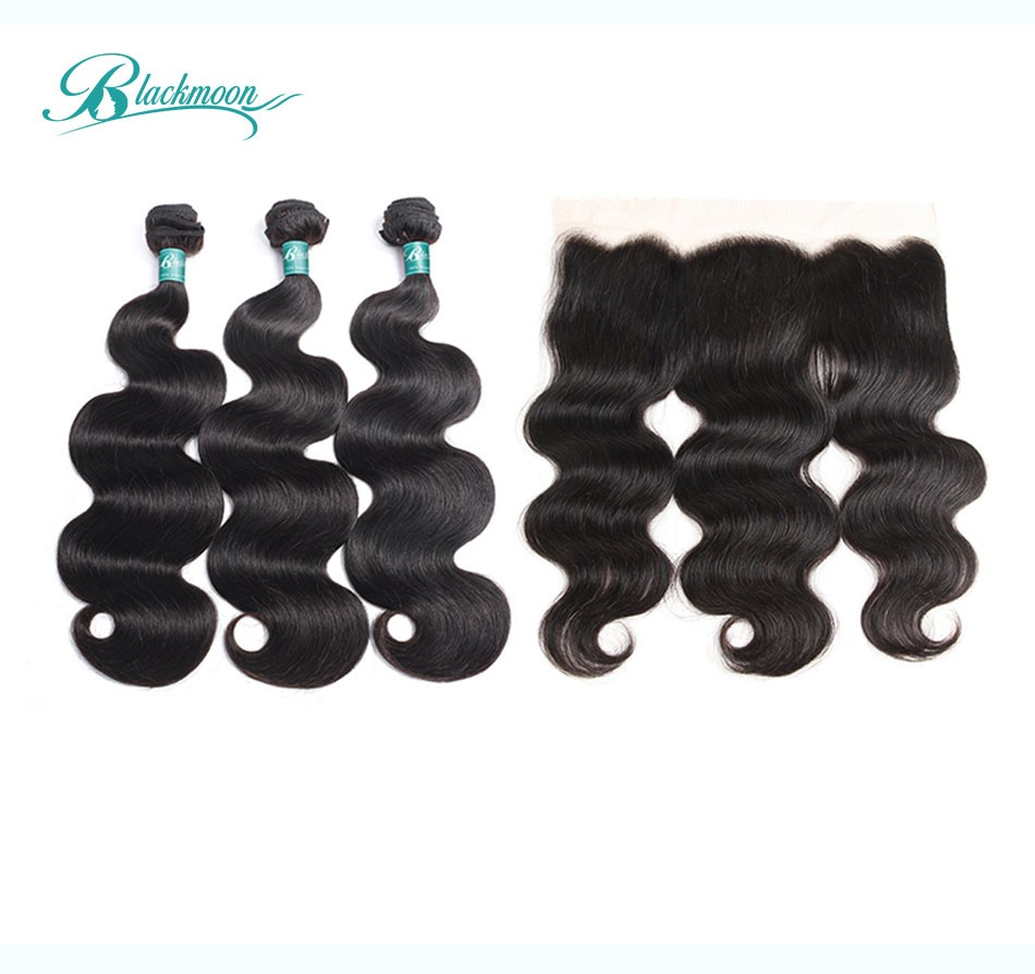 body wave hair weave bundles with frontal-3+13_02