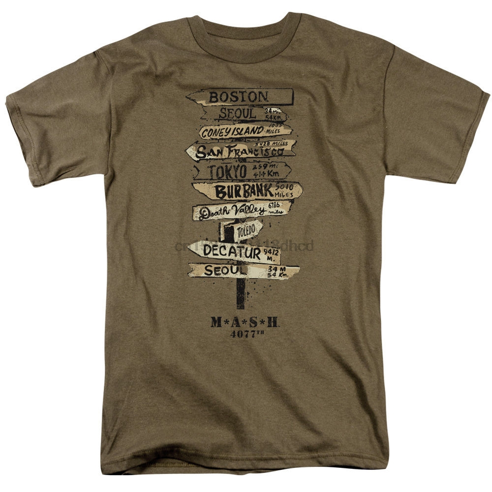 MASH TV Show SIGNS Licensed Adult T-Shirt All Sizes