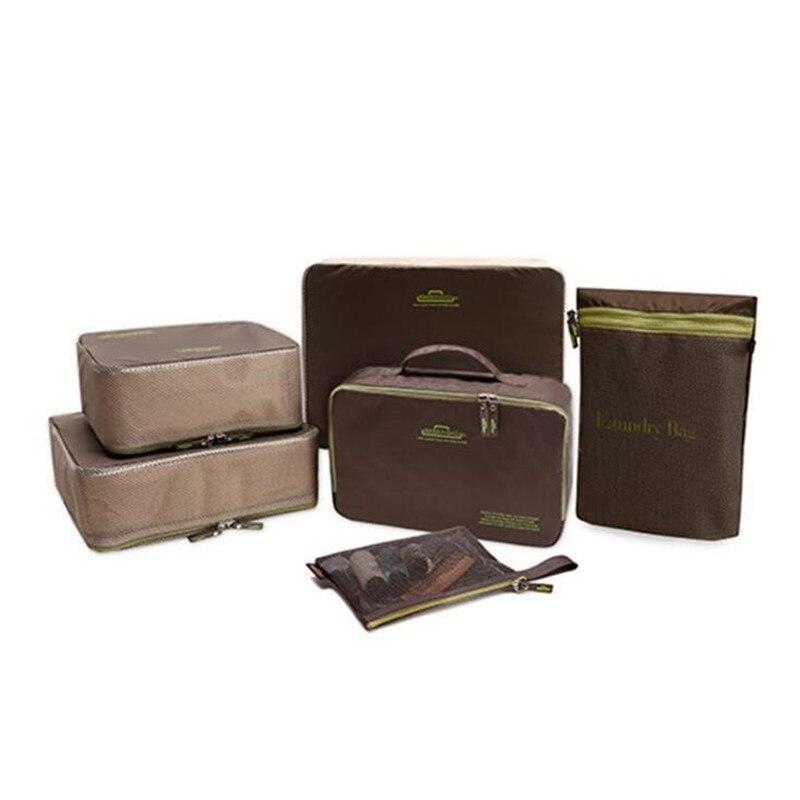 Travel Cloths Storage Bag Six-piece Set Waterproof Bra Cosmetics Underwear Luggage Suitcase Baggage Organizer Bag
