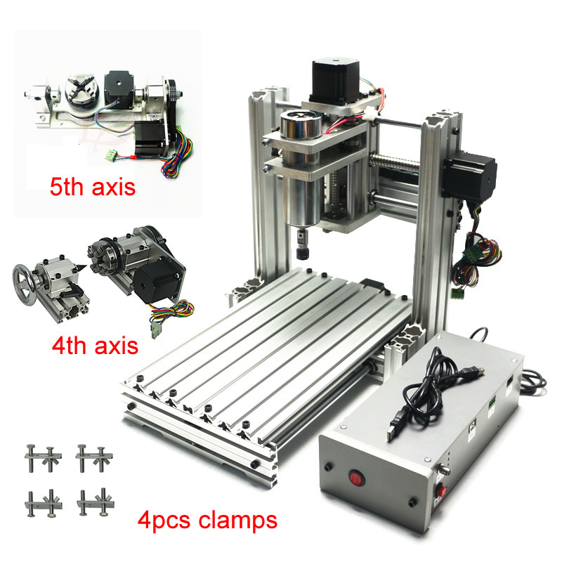 CNC Router Engraver Machine 3020 3axis 4axis 5axis Aluminum Alloy Frame Ball Screw And Limited Swith Mach3 Control For Drillinng
