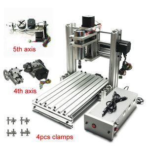 Image 1 - CNC router engraver machine 3020 3axis 4axis 5axis aluminum alloy frame ball screw and limited swith Mach3 control for drillinng