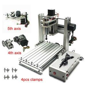 Image 1 - Máquina grabadora enrutador CNC 3020 3 ejes 4 ejes 5 ejes Marco de aleación de aluminio tornillo de bola y limitado swith Mach3 control para drillinng