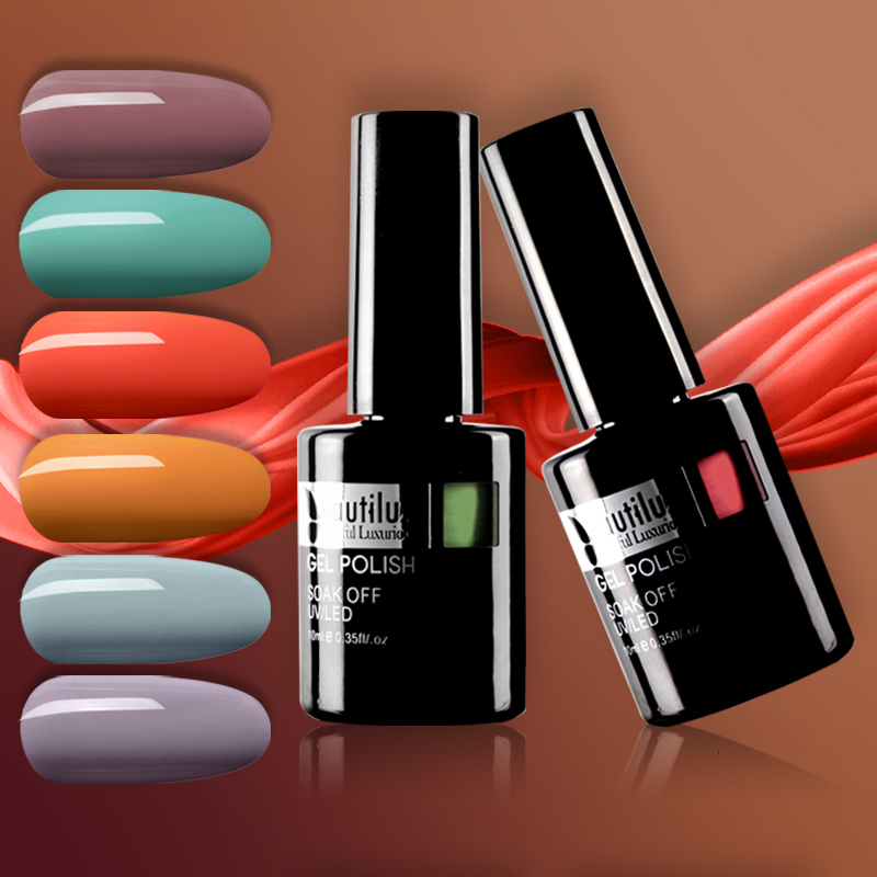 Beautilux 1pc Autumn Collection Nail Colors Gel Polish Lacquer Soak Off UV LED Nails Polish Varnish Esmalt Vernis Smalto 10ml