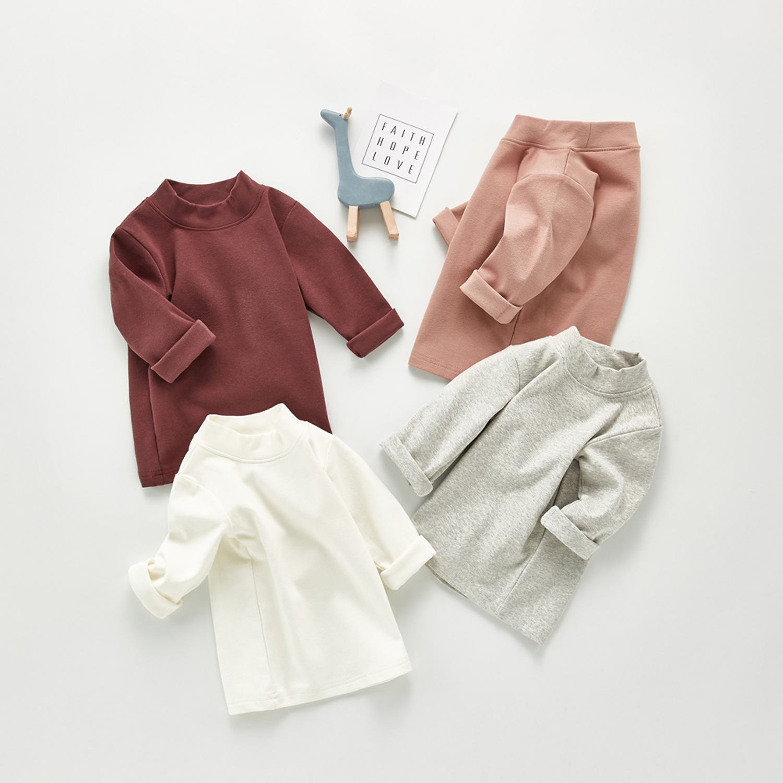 2020 Baby Autumn Clothing Newborn Baby Boy Girl Long Sleeve Tops T-shirt Baby Clothes Kids Solid Sweatshirts 3