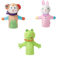 Animal Plush Hand Puppet Rattle toy Kids Cute Soft Toy Story Dolls Gift Children Playing rustling sound Educational Fluff Toys(China)