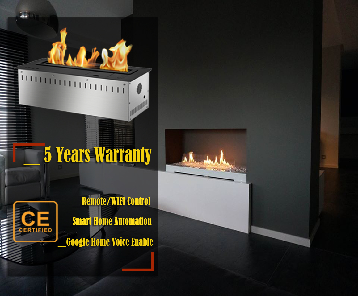 On Sale 48'' Bio Ethanol Remote Burner Insert Indoor Gel Fireplaces