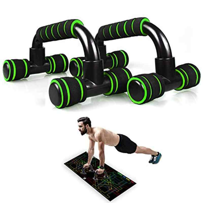 1 Pair H-forma Per Il Fitness Push Up Bar In Lega di Alluminio Per Il Fitness A Casa Push-Up Espositori e Alzate Hand Grip Trainer Busto di Formazione attrezzature