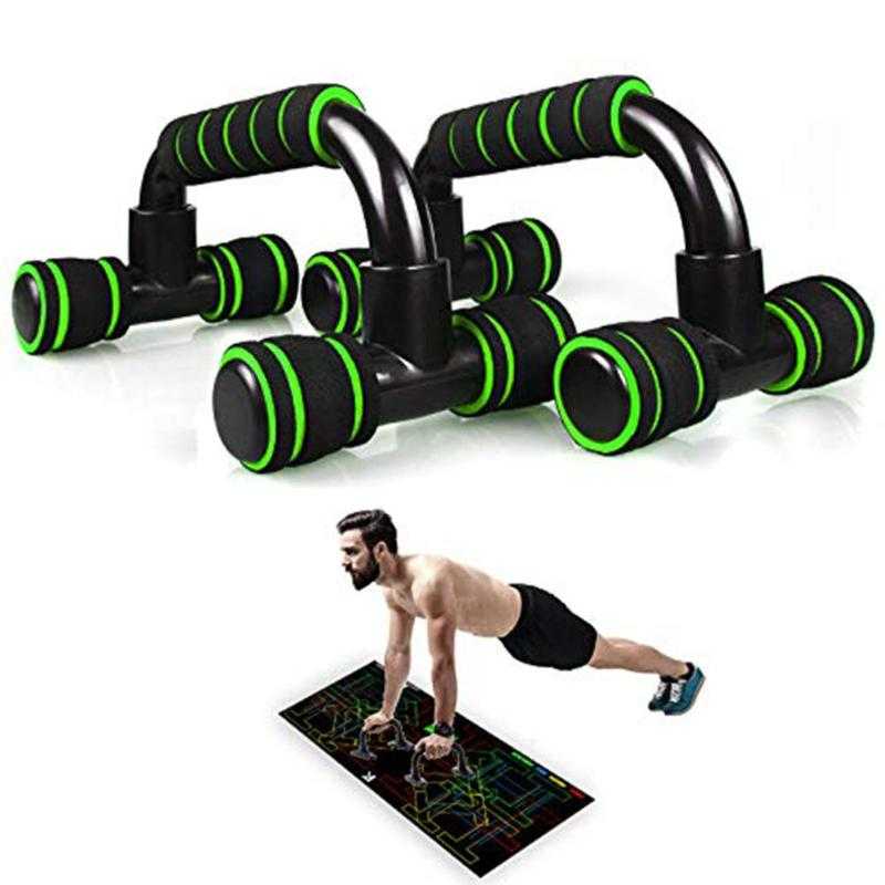 1 Pair H-shape Fitness Push Up Bar Aluminum Alloy Home Fitness Push-Up Stands Hand Grip Trainer Chest Training Equipment