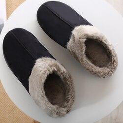 Chinelos de inverno homens Camurça de Pelúcia Curto Costura Casa sapatos para sapatos masculinos antiderrapante Macia e Quente sapatos De Pele De Veludo Casa chinelos homens Da Moda