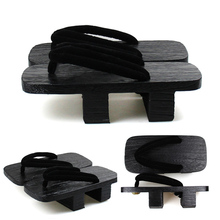 Man Flip Flops Wooden Japanese Geta Clogs Ethnic Round Toe Paulownia Male Beach Wear Cosplay Oriental Shoes Sandals Slippers
