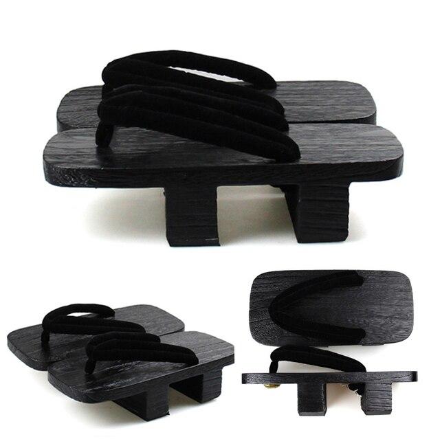 Uomo di Vibrazione di Cadute di Legno Giapponese Geta Zoccoli Etnico Punta Rotonda Paulonia Della Spiaggia di Sesso Maschile di Usura Cosplay Oriental Scarpe Pantofole Dei Sandali