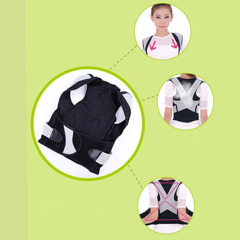 Купить с кэшбэком BYEPAIN Unisex Back Shoulder Posture Corrector Health Care Pain Relief Back Brace Support Back Belt M-XL for women man