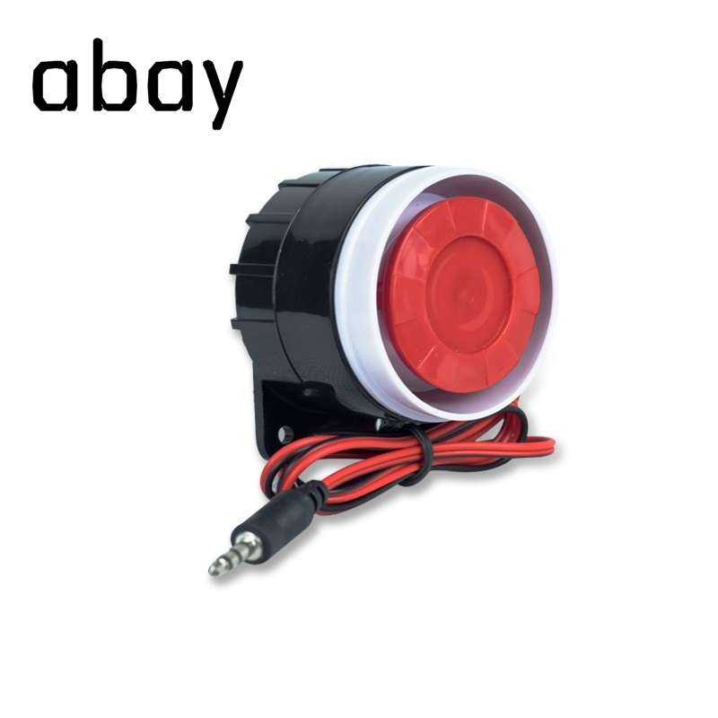 Abay 120 DB Loudly Siren Mini Wired Siren Horn For Wireless Home Alarm Security System